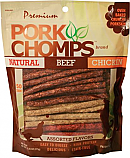 PORK CHOMPS 50 Count Assorted Munchy Sticks