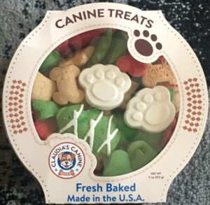 Claudia's Canine Cuisine PAWS HOLIDAY Christmas DOG COOKIES